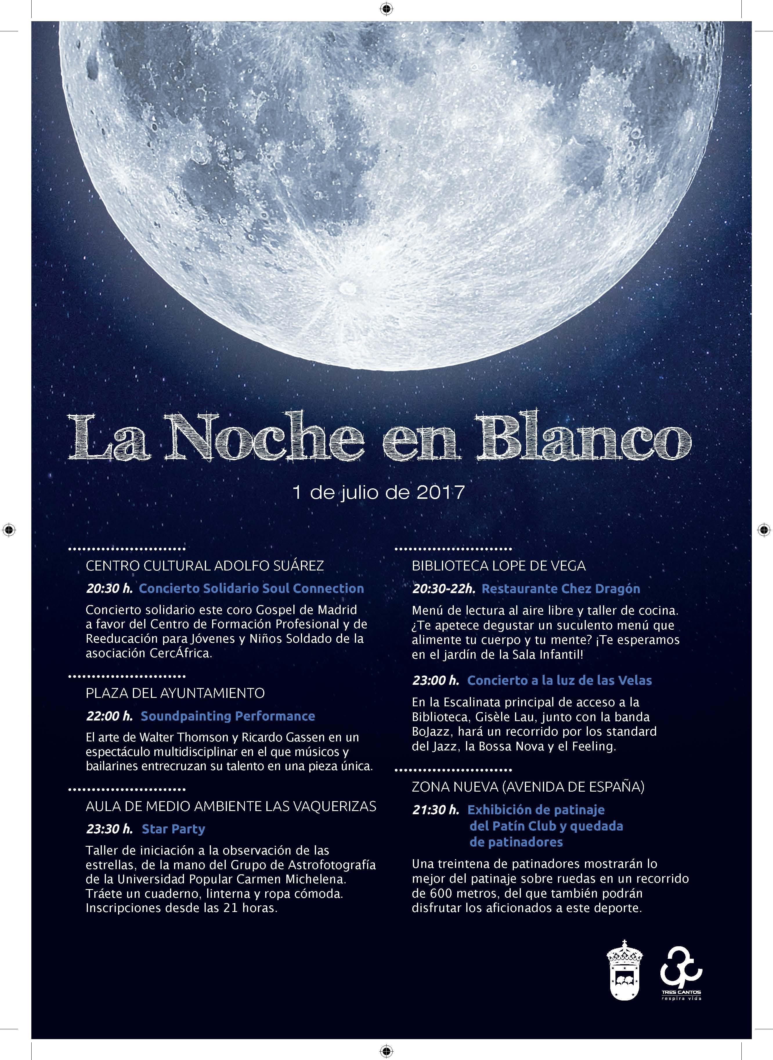Cartel Noche en Blanco 2017